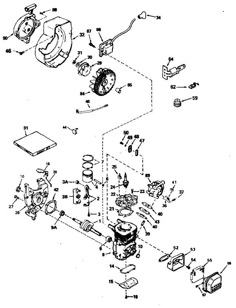 Tecumseh model AH600-1627N engine genuine parts