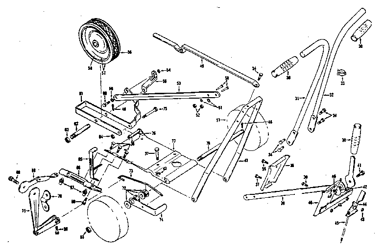 King-O-Lawn model 216-3 edger genuine parts