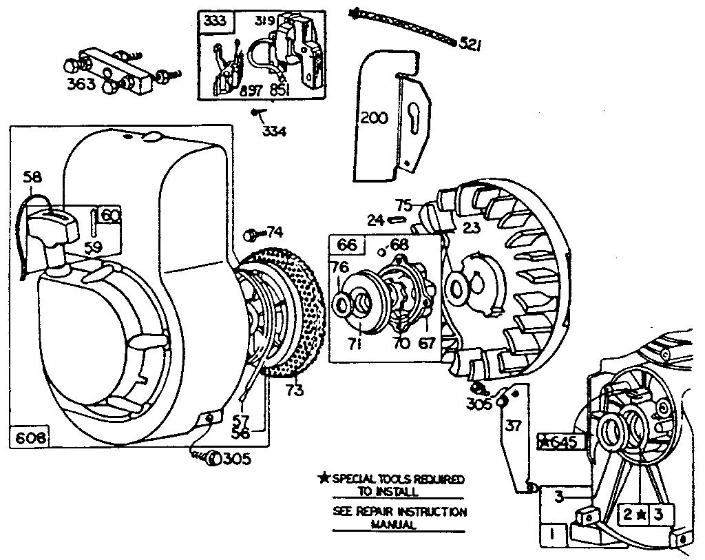 Briggs-Stratton model 80212-8702-01 engine genuine parts