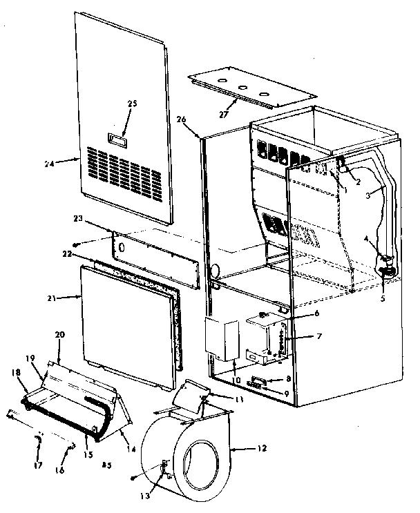 Kenmore model 867769233 furnace/heater, gas genuine parts