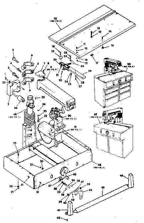 Craftsman model 113198410 saw radial genuine parts