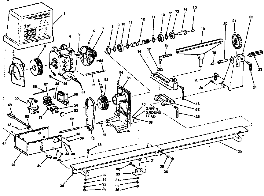 Sears Craftsman 12 Inch Wood Lathe Manual