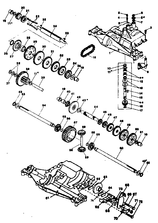 Footedana model 4360-7 transaxle/transmission, tractor