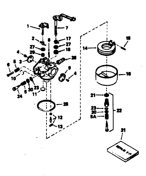 Tecumseh model HM100-159151G engine genuine parts