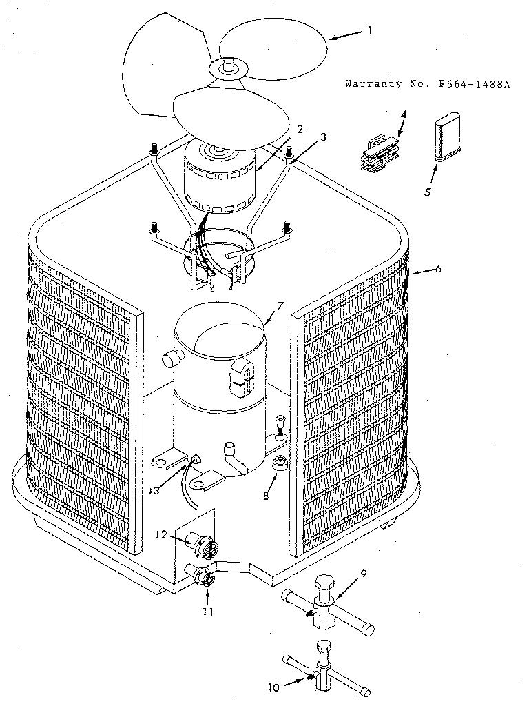 Icp model CA1024QKA1 air-conditioner/heat pump(outside
