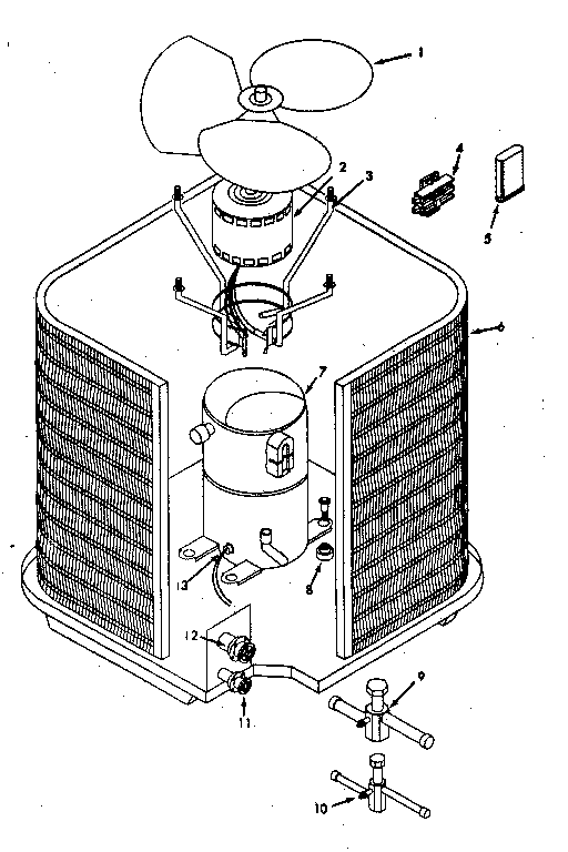 Icp model CA3048VKA1 air-conditioner/heat pump(outside