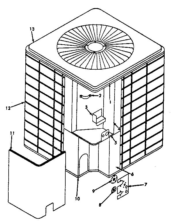 Icp model CA5036VKA1 air-conditioner/heat pump(outside