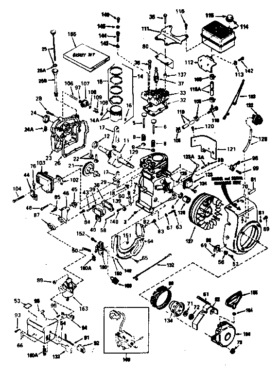 Tecumseh model HSSK50-67270F engine genuine parts