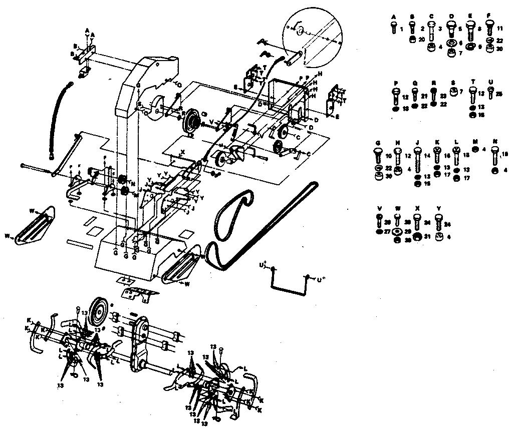 Craftsman model 917252461 tiller attachment genuine parts
