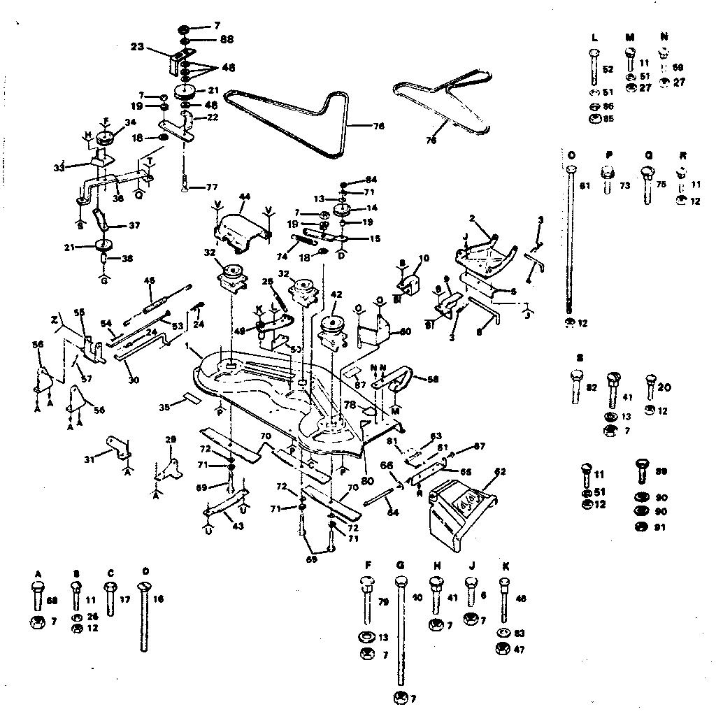 Craftsman model 917254322-1987 lawn, tractor genuine parts