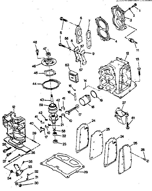 Craftsman model 225587151 boat motor gas genuine parts