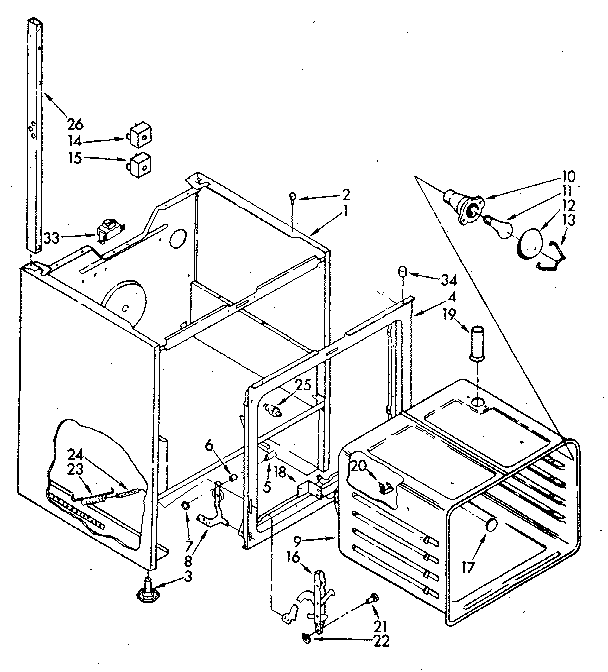 Kenmore model 99551 (1988) free standing, electric genuine