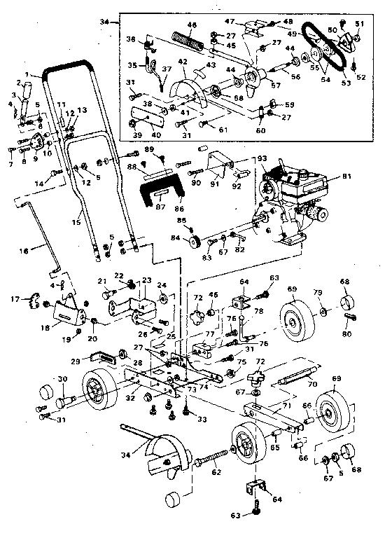 Craftsman model 536796532 edger genuine parts