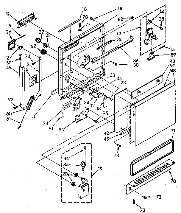 Kenmore model 19385 (1988) dishwasher genuine parts