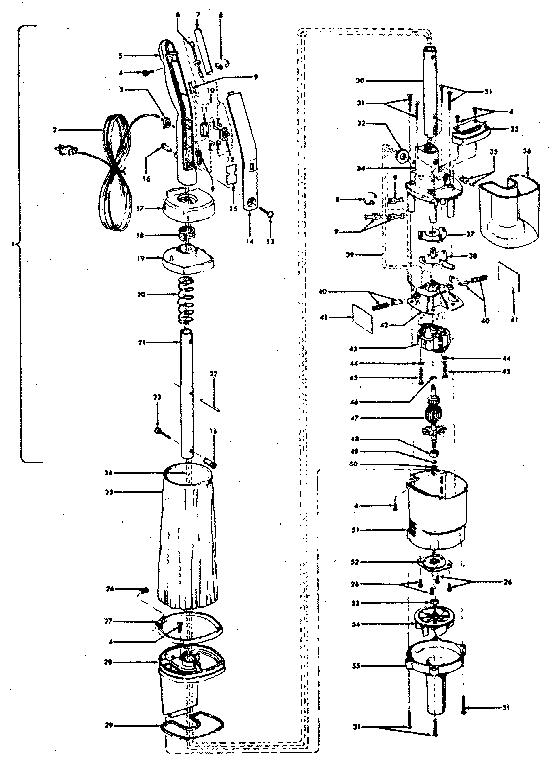Hoover model S2099 vacuum, upright genuine parts