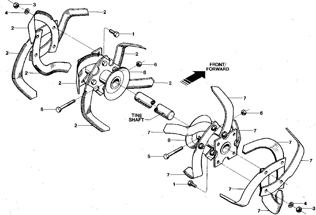 CRAFTSMAN TROY BILT ROTO TILLER-POWER COMPOSTER Parts