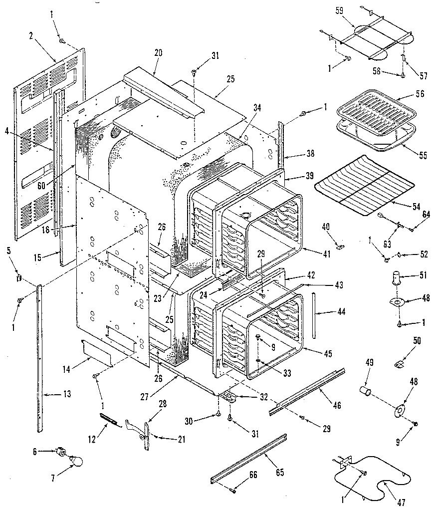 Kenmore model 2784228892 ranges, electric genuine parts