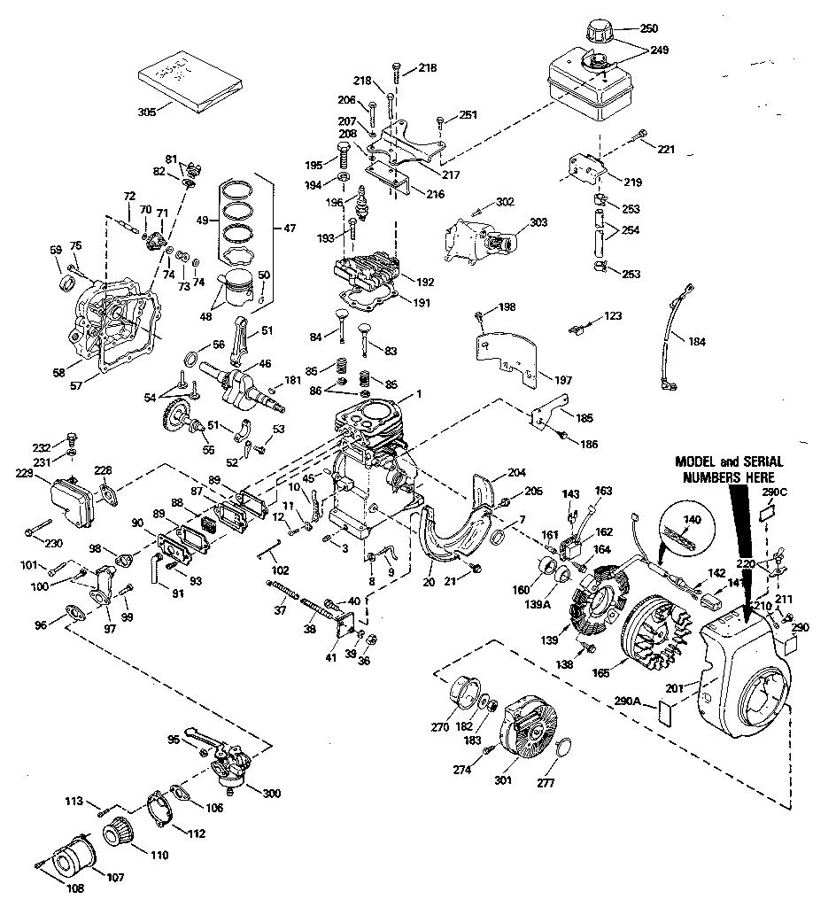 Tecumseh model HS40-55568K engine genuine parts