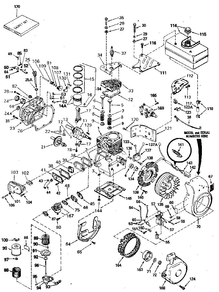 Tecumseh model H60-75506N engine genuine parts