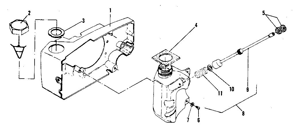 Mcculloch model PRO MAC 610 MODEL 13600041-29 chainsaw