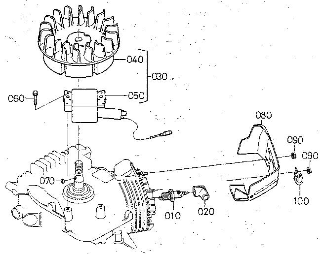 Kubota model AT25 front tine, gas tiller genuine parts