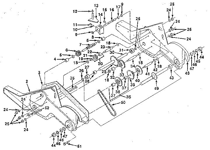 Craftsman model 917299651 rear tine, gas tiller genuine parts
