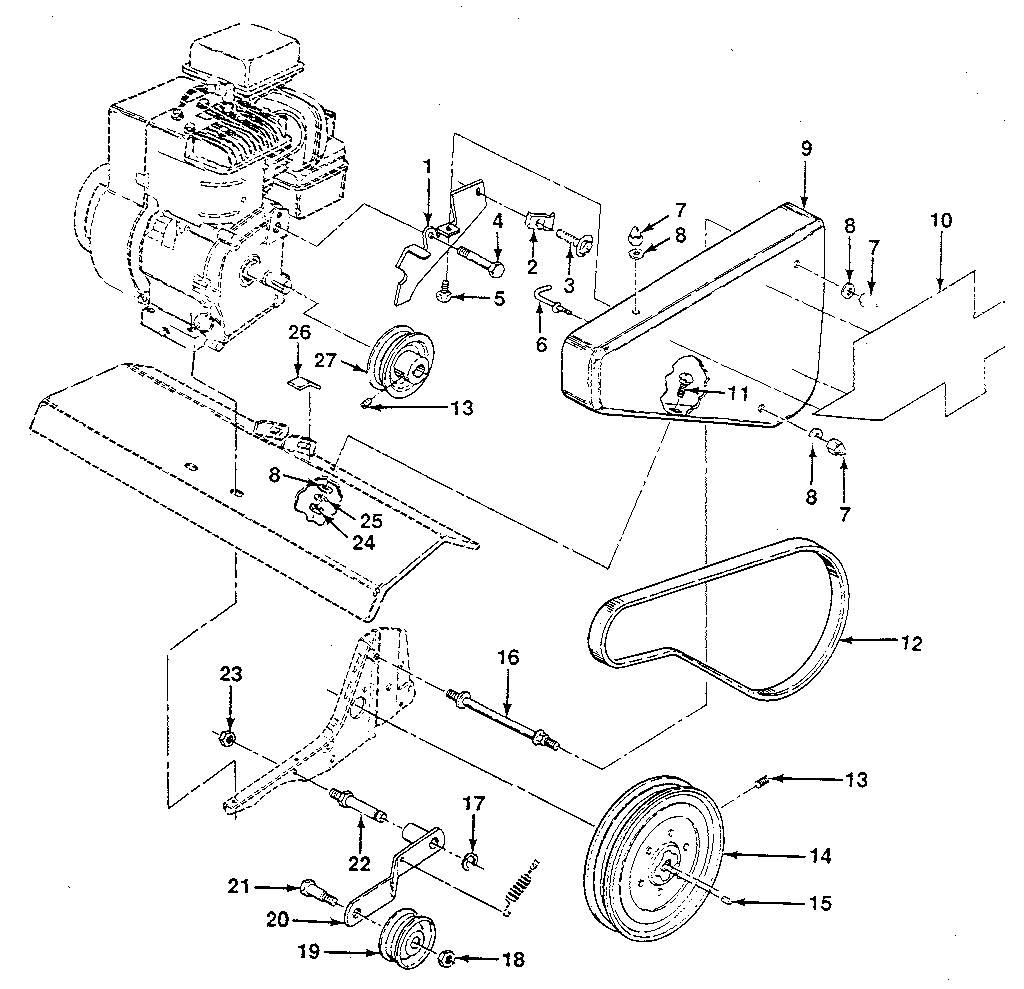 Craftsman model 917298241 front tine, gas tiller genuine parts