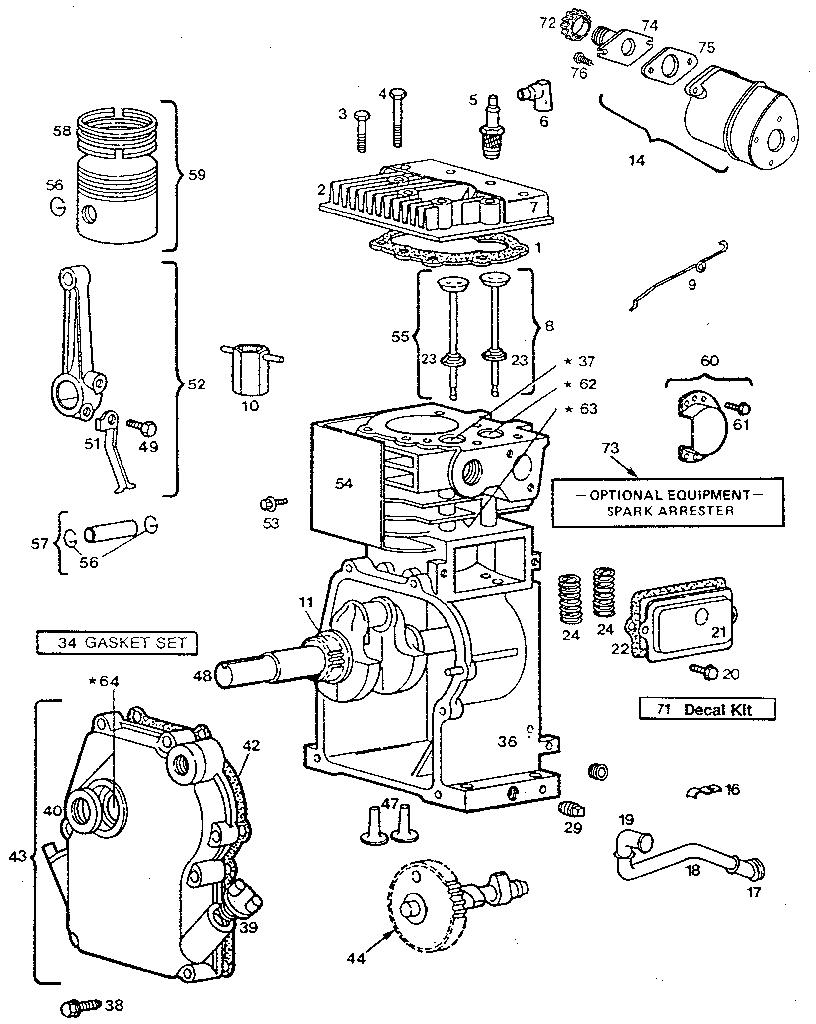 Briggs-Stratton model 80202-2369-01 engine genuine parts