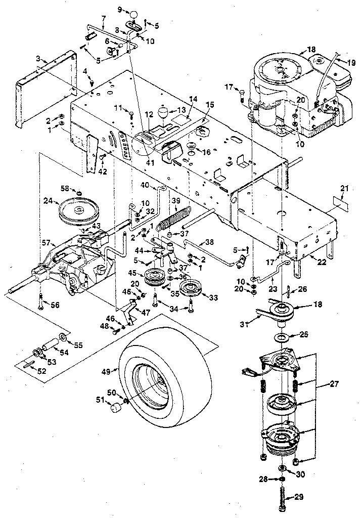 Jacobsen model LT12 lawn, tractor genuine parts