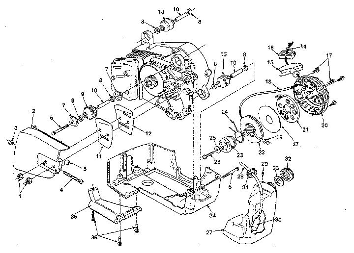Homelite model 330-UT10604A chainsaw, gas genuine parts