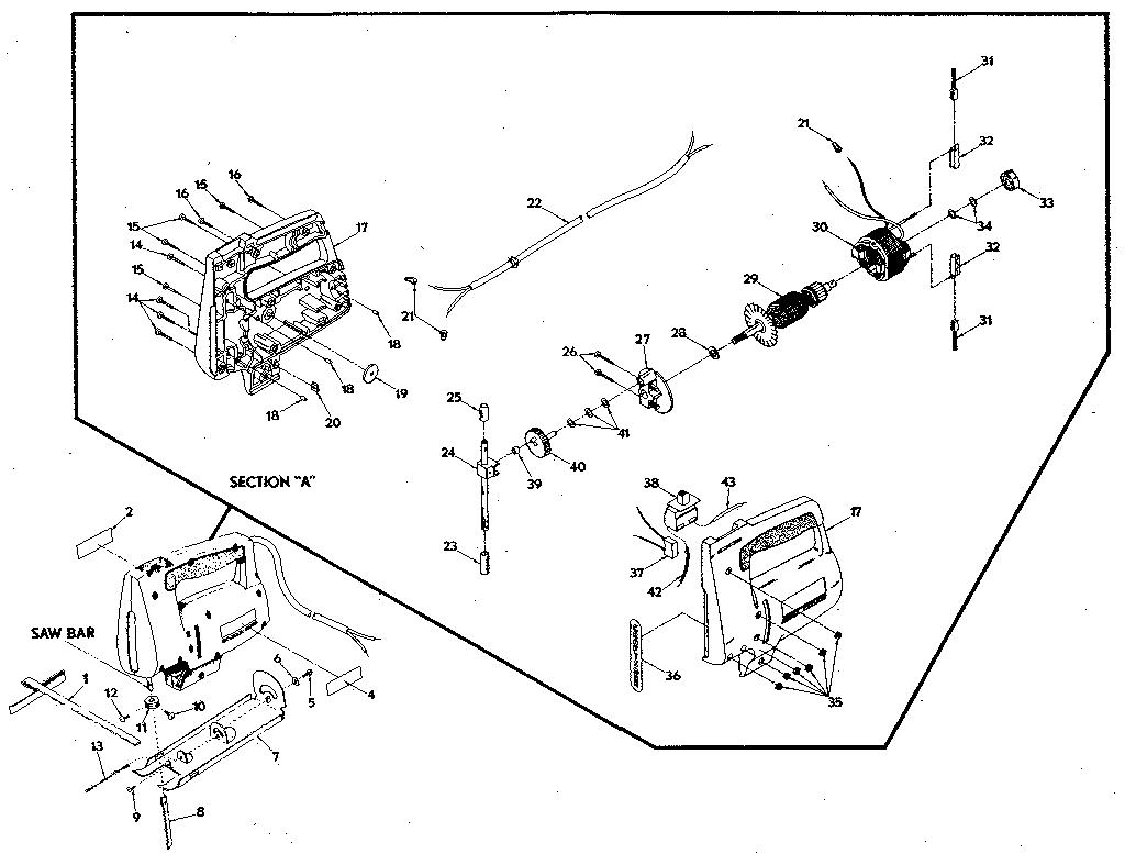 Craftsman model 721-2 saw sabre genuine parts