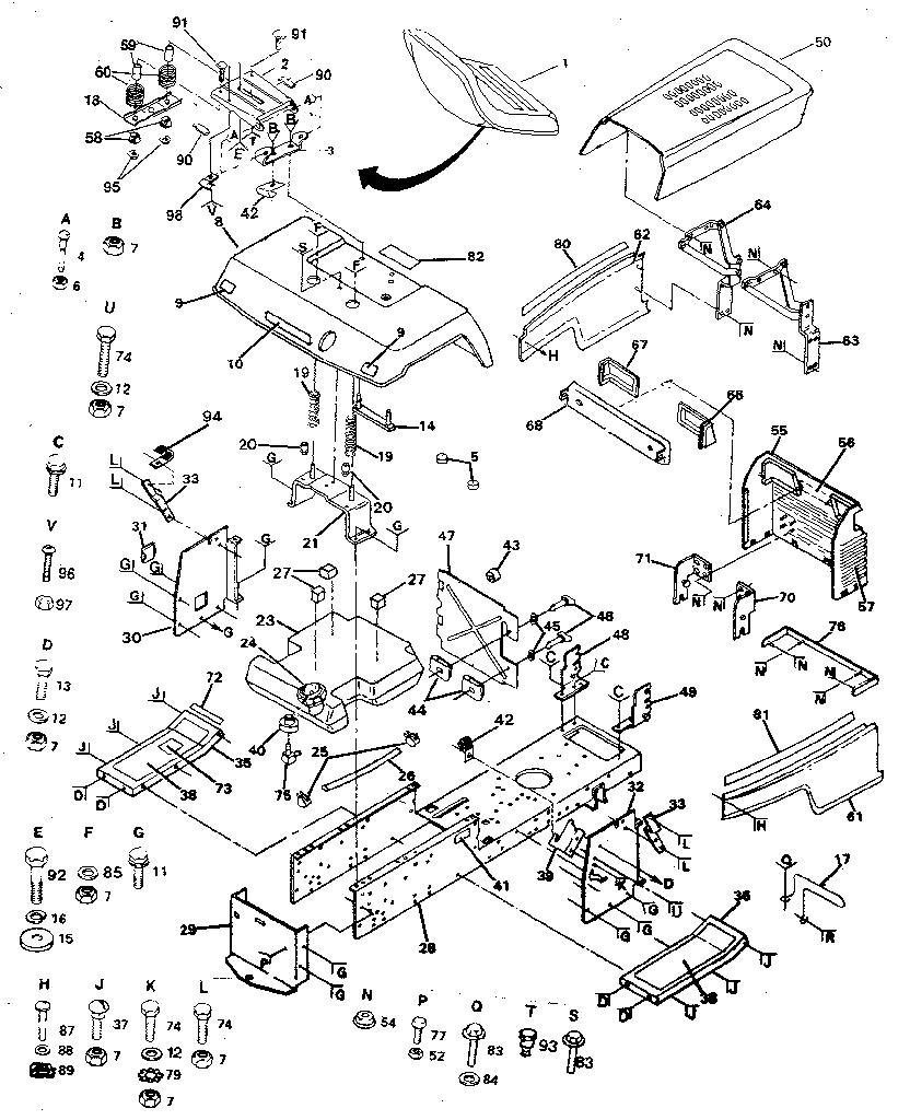 Craftsman model 917254721 lawn, tractor genuine parts