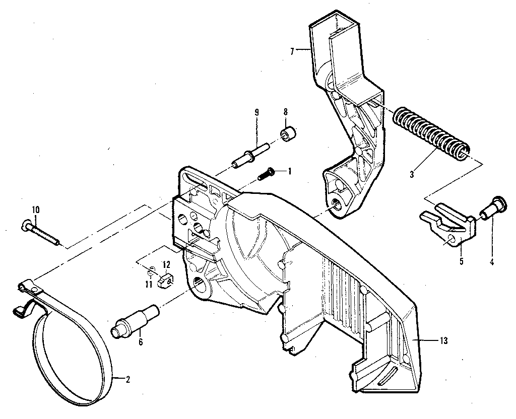 Mcculloch model WILDCAT 11600160-03 chainsaw genuine parts