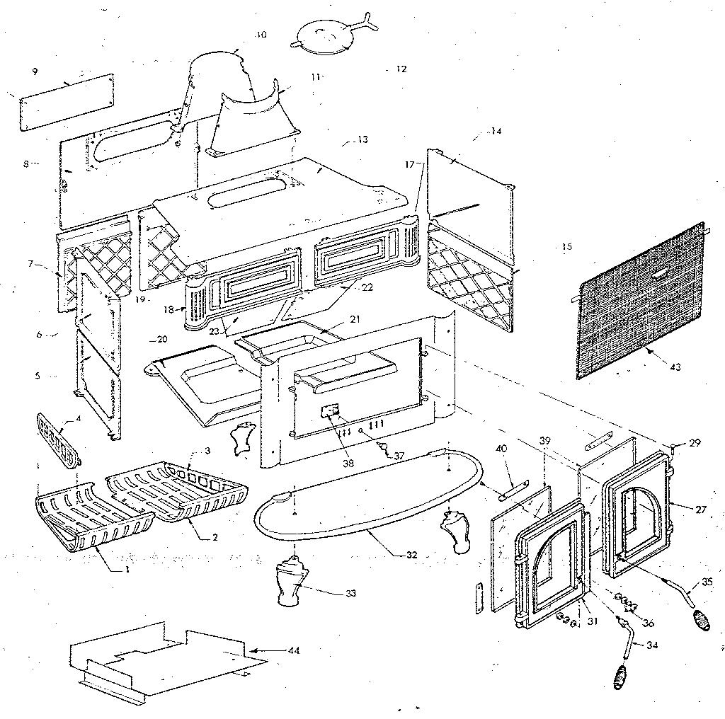 Atlanta-Stove-Works model 226CC space heaters/wall unit