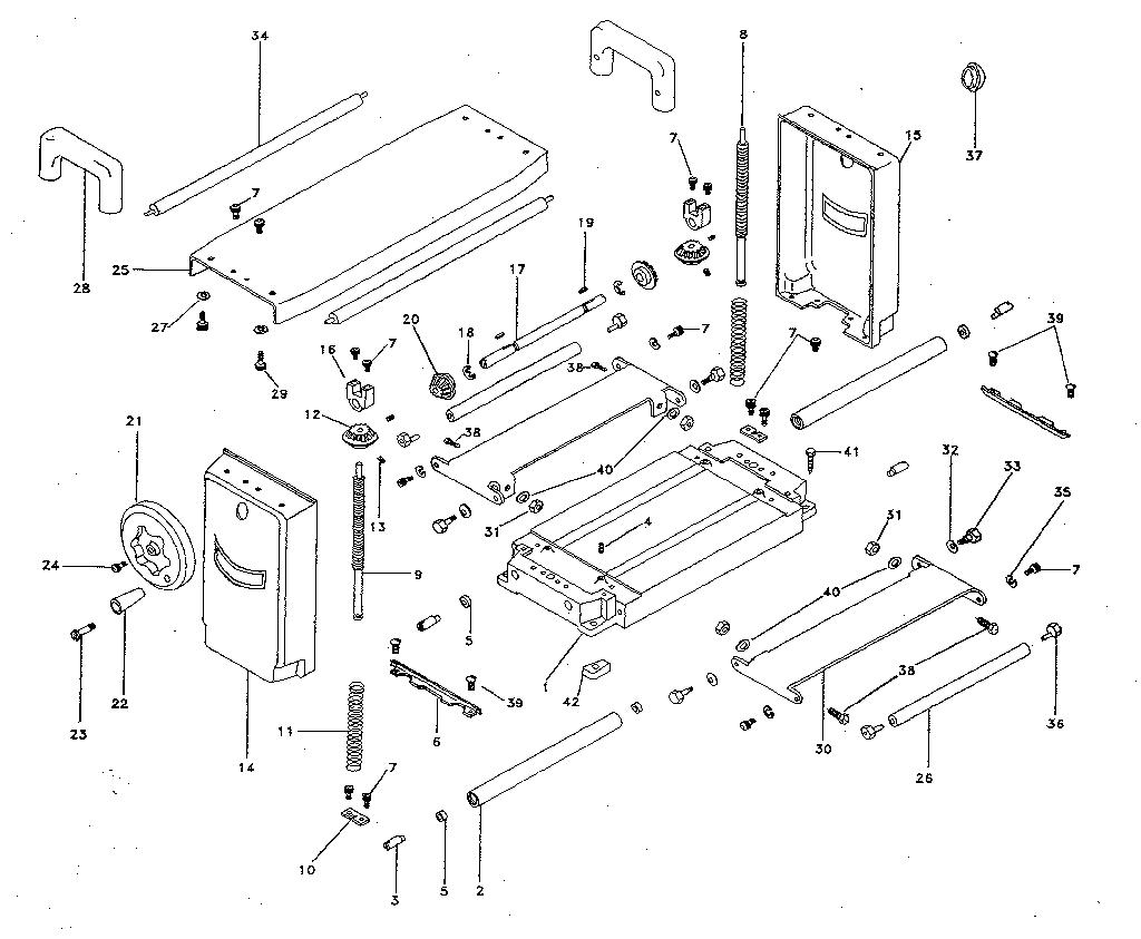 Craftsman model 35123373 planer genuine parts