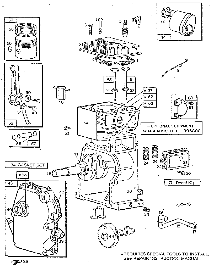 Briggs-Stratton model 080202-2305-01 engine genuine parts