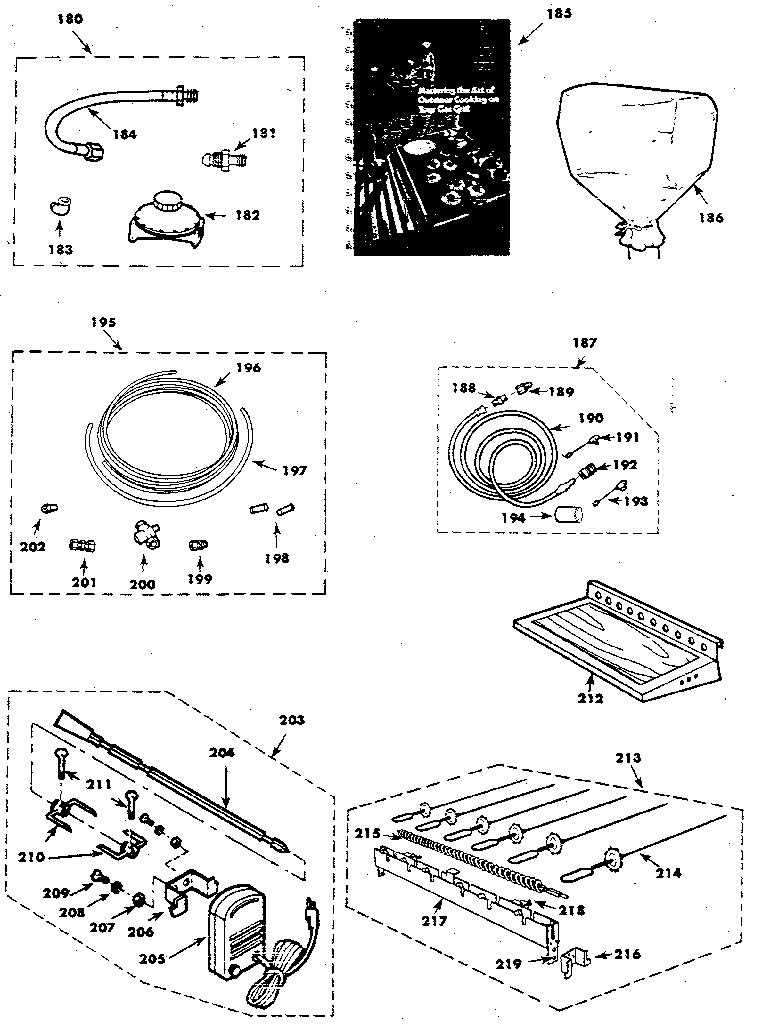 Craftsman model 2582317810 grill, gas genuine parts