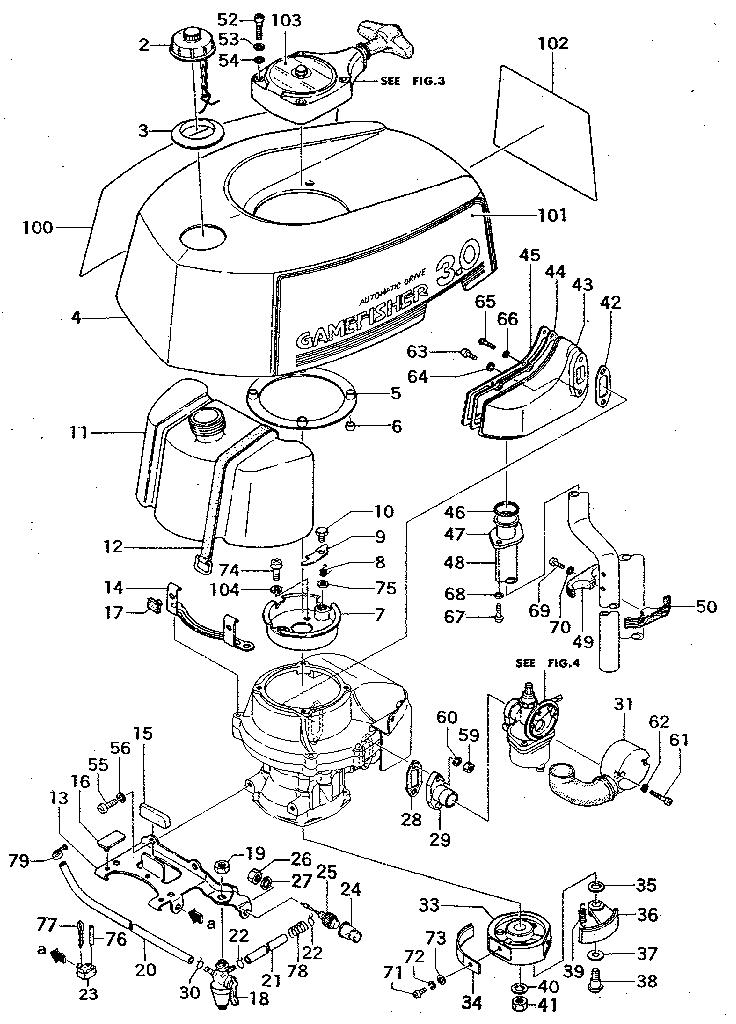 Craftsman model 298586192 boat motor gas genuine parts