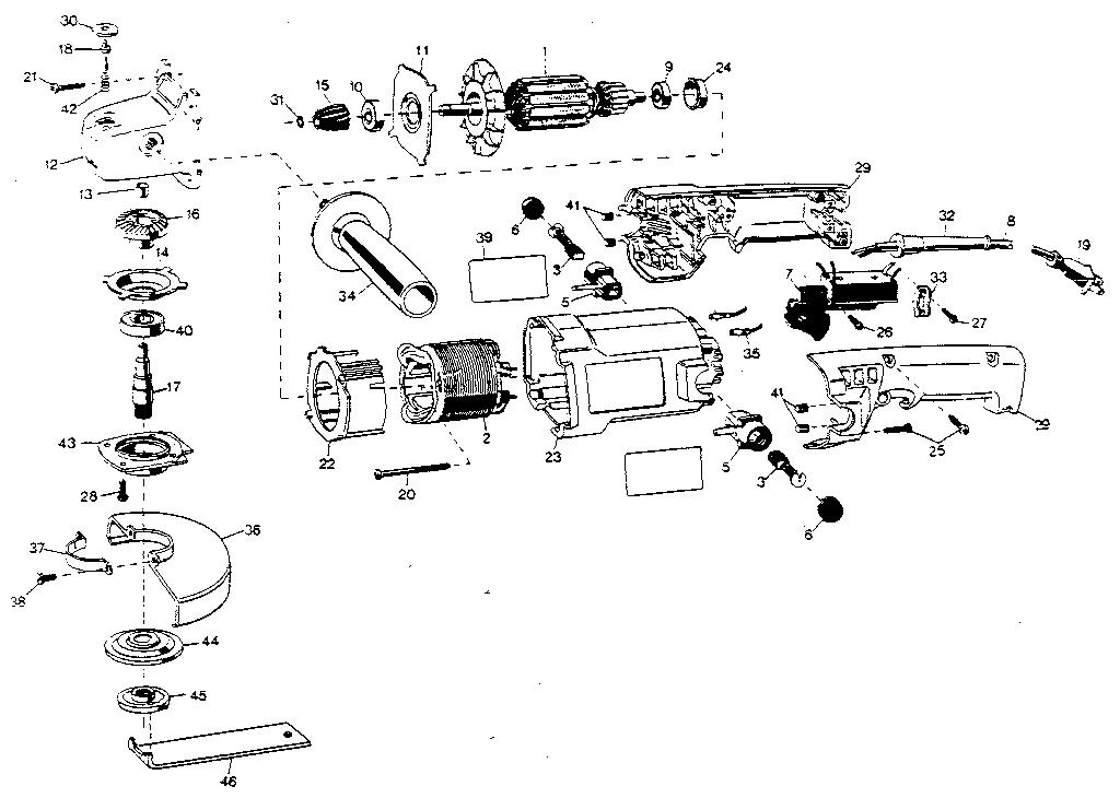 Black-Decker model 4255 grinder angle genuine parts