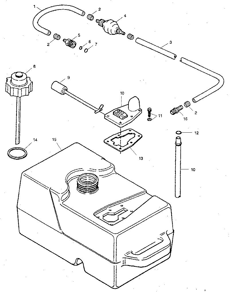 Craftsman model 225581991 boat motor gas genuine parts