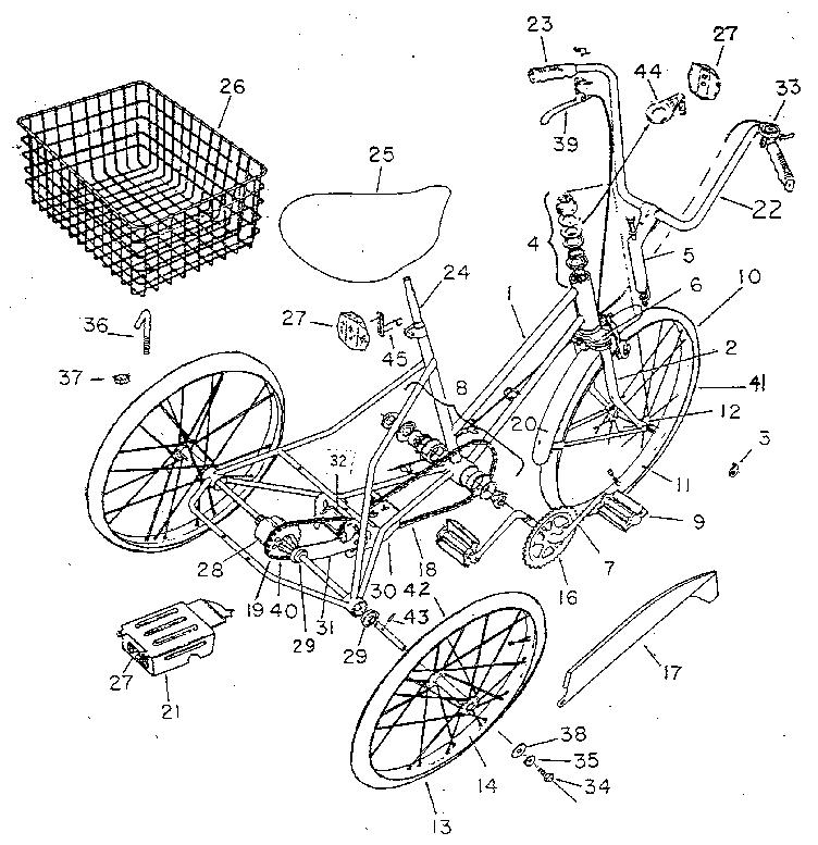 Columbia model 9950 bicycles genuine parts