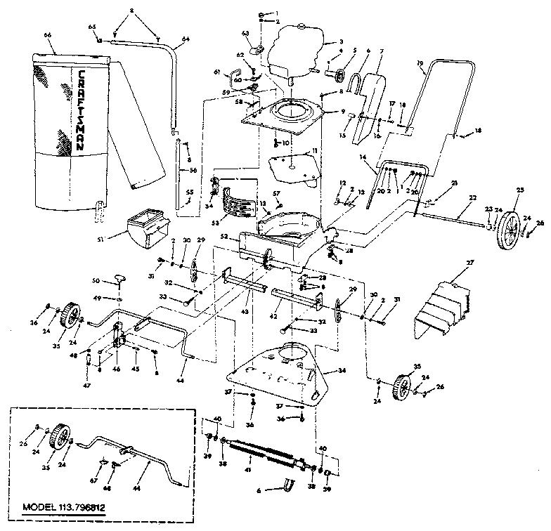 CRAFTSMAN DELUXE POWER BRUSH VACUUM-SHREDDER-BAGGER-BLOWER
