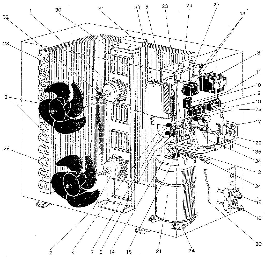 Mitsubishi model PUH-4G6.US air-conditioner/heat pump
