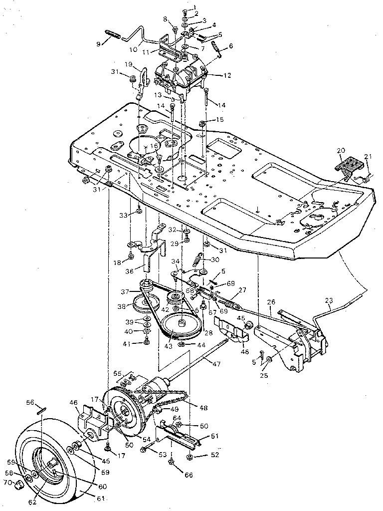 Murray model 9-30502 lawn, riding mower rear engine