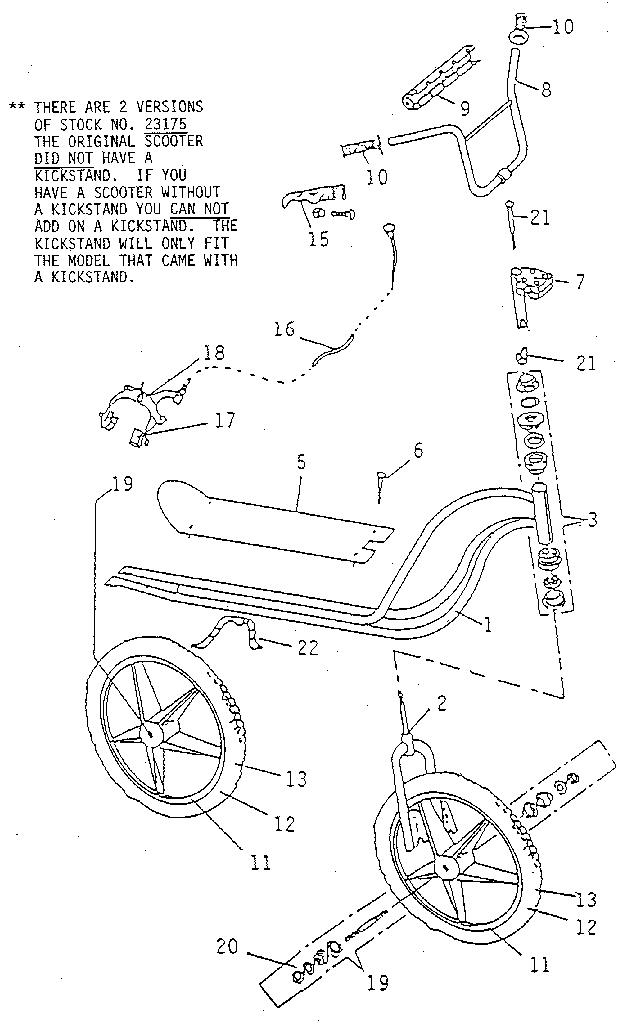 Variflex model 550 scooter genuine parts
