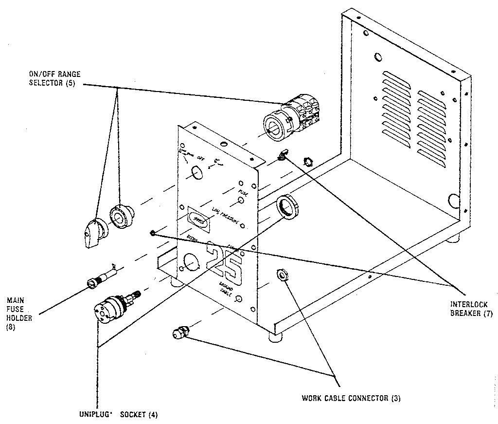Harris model SYSTEM 25 welder genuine parts