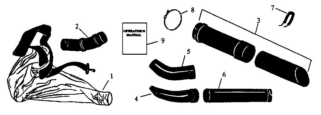 Craftsman model 358797920 blower, gas genuine parts