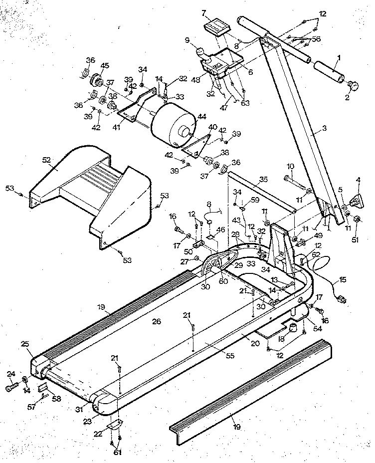 Lifestyler model 831296480 treadmill genuine parts