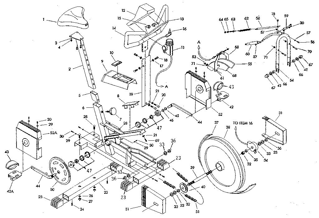 Tunturi model E330 cycle genuine parts