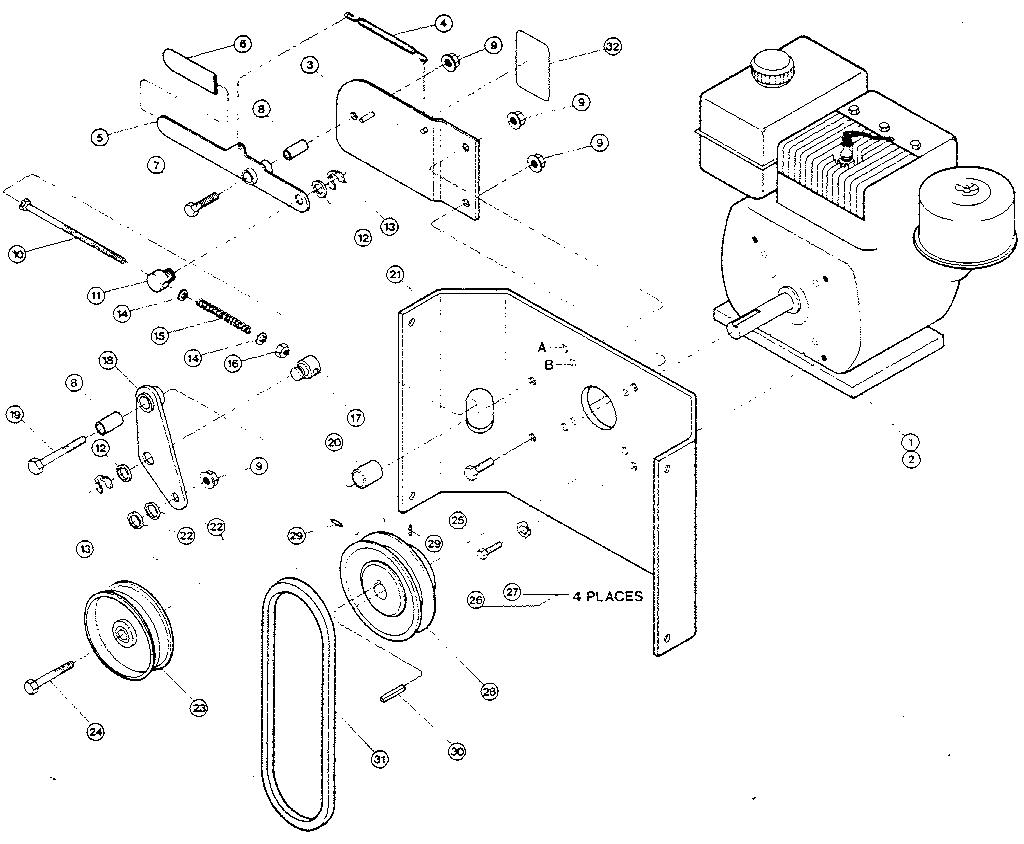 Troybilt model SUPERTOMAHAWK8HP SER. W836276 & UP chipper